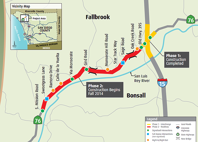 Palomar San Marcos Campus Map.A Wider Road From Bonsall To I 15 San Diego Reader