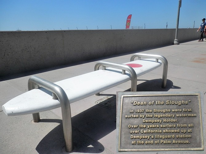 A Surfboard Bench Pays Tribute to IB Legend Dempsey Holder