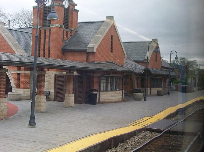 Glenview, Ill. Amtrak station.