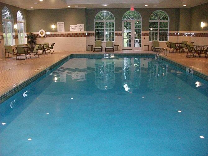 Swimming pool at Milwaukee Holiday Inn hotel.