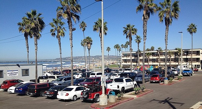 The city parking lot right in front of South Beach with 102 spaces.