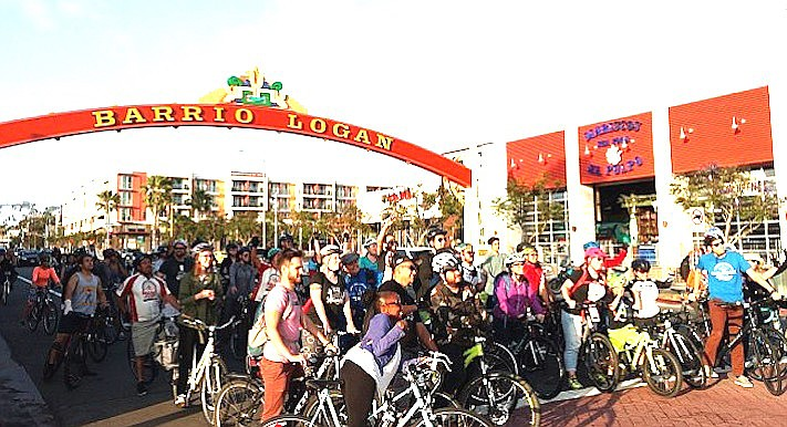"""""""In Barrio Logan there are no bike sharrows, no bike lanes – there are hardly any bike racks."""""""