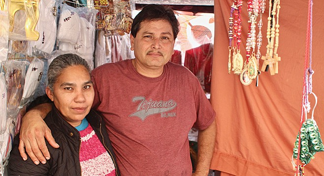 Angel Gastelúm, the sobador, with Señora Vicky, his assistant - Image by Matthew Suárez