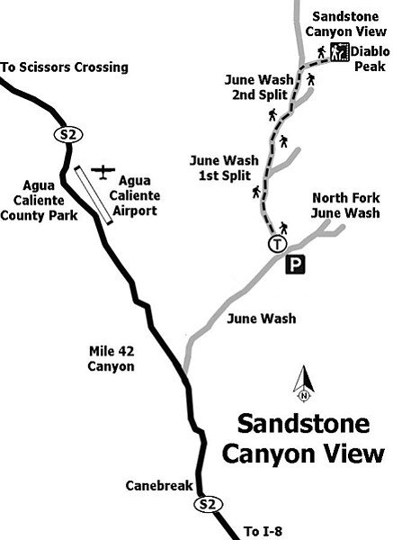 Sandstone Canyon map
