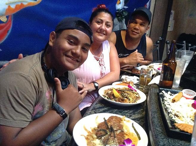 Jordan, Janet, Malcholm. More than 25,000 Chamorros have settled in here.