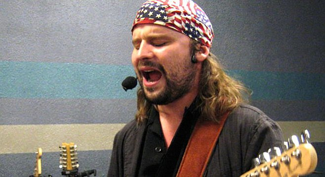 Wilkins's courtroom saga led him to lay off guitar for six months.