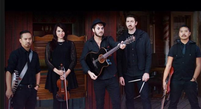 Quel Bordello's Jake Skolnick (center) — not keen on the EDM concept for SD Gypsyfest