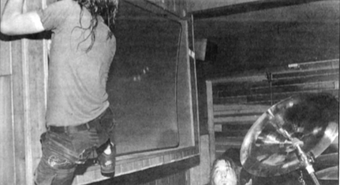 Eddie Vedder at Winter's, 1991. Pearl Jam probably didn't look good to almost anyone when they canceled their June Sports Arena shows at the last minute. - Image by Randy Hoffman