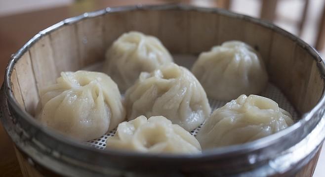 Trendy soup dumplings, xiao long bao. Not quite Din Tai Fung, but good.