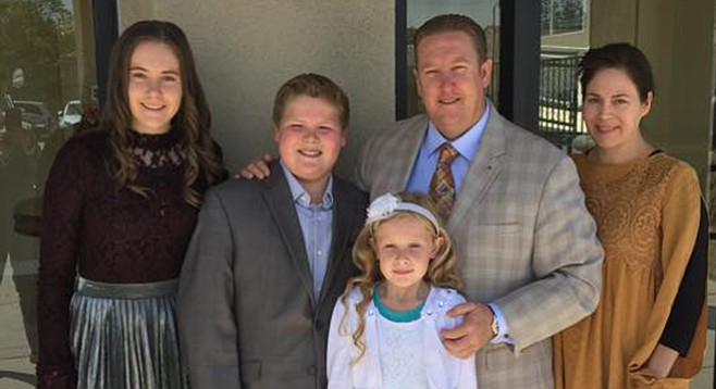"""Marc Stevenson and family. """"Those who have not given themselves to God will be lost."""""""