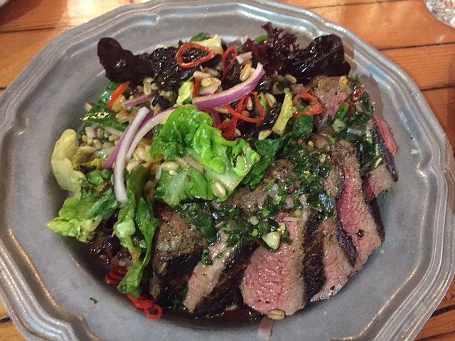 Chimichurri Steak and Carrot Salad, with a nice lemon-parsley tang