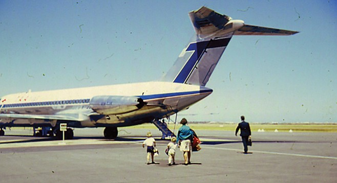How we used to catch a plane. Those were the days.