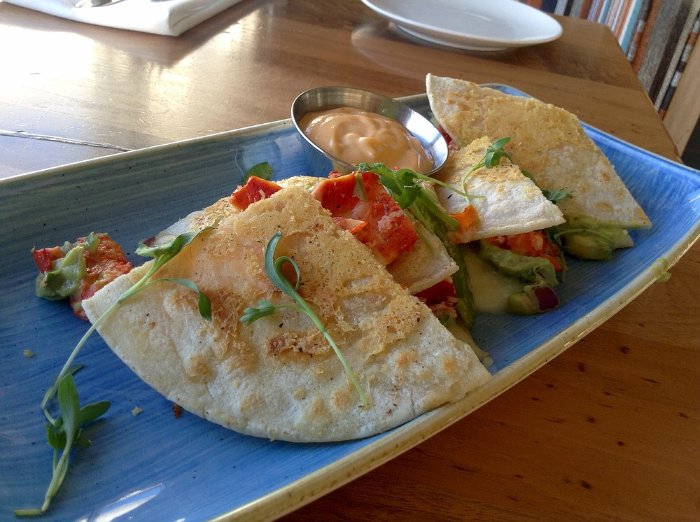 Lobster quesadilla: $7, but, bite for bite, cheap at twice the price.
