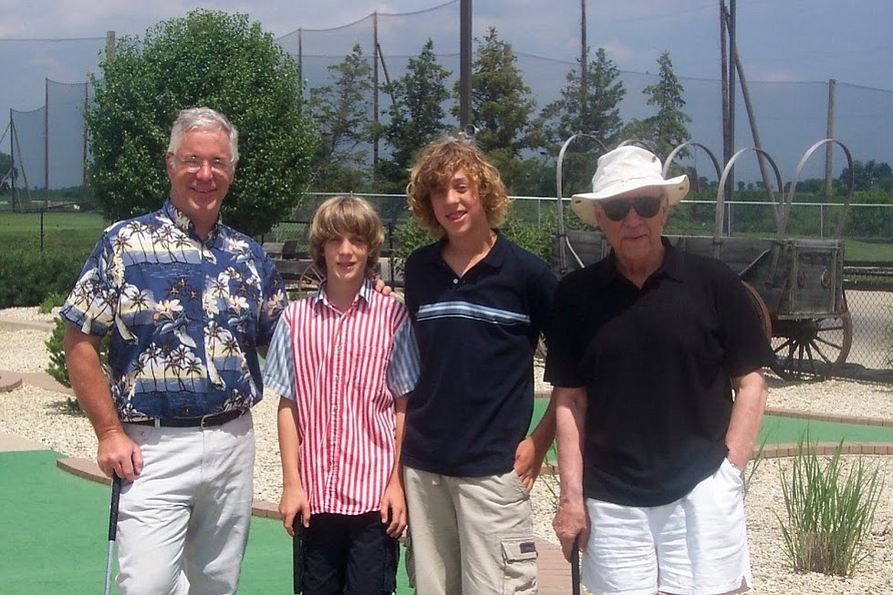 Son, grandsons, Conrad. Eric and Conrad maintained a friendship for 35 years.