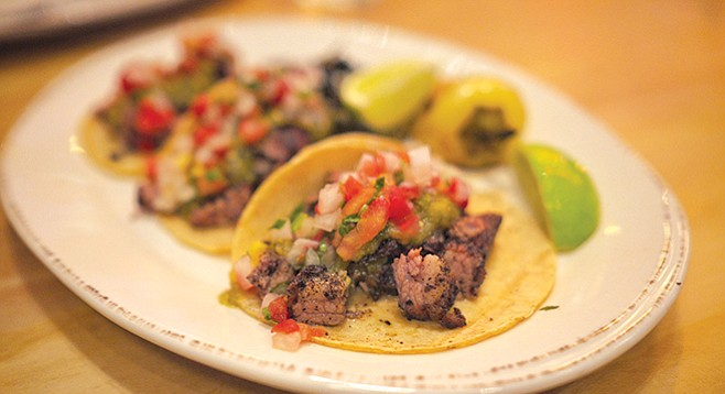 Tamarindo's suadero tacos, North Park