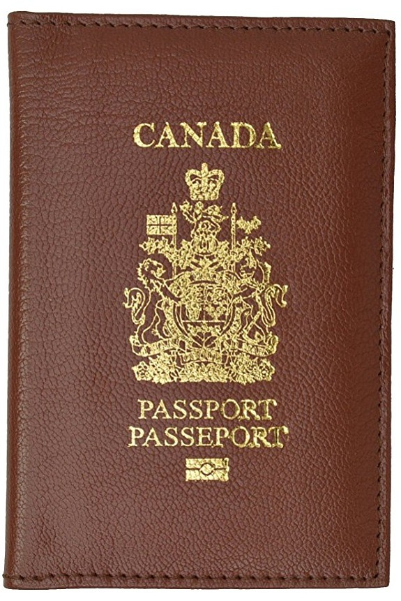 Canada Passport Wallet Genuine Leather Passport holder with Emblem