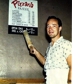 In his younger days, Conrad Prebys ran a pizzeria in South Bend, Indiana.