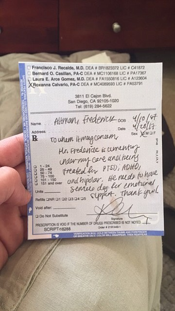 Doctor's note.