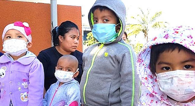 Some of the patients. Parents of the affected children have decided to take to the streets of Tijuana's upscale Zona Río over the weekend.