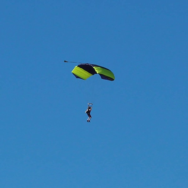 A sky diver near the Oceanside airport