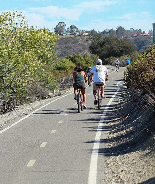 San Luis Rey River Trail bike riders