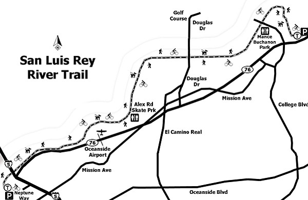 San Luis Rey River Trail map