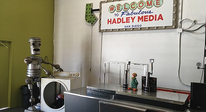 Hadley's robot humps no more but sits in workspace in North County.