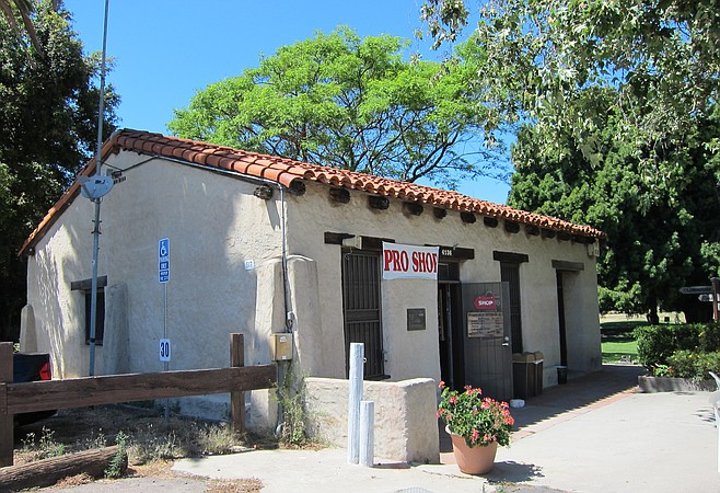 Not just the oldest adobe house in San Diego, the oldest house in San Diego. Some want to turn it into a golf museum.