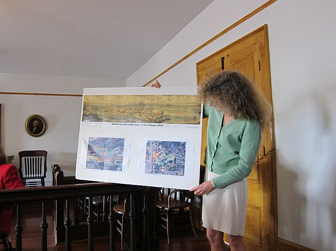 Nancy Wilkins-Diehr gave a talk May 10 at the Old Town planning group meeting.