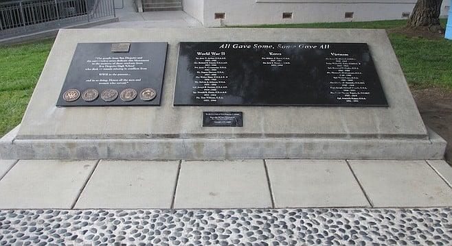 Fallen Alumni Memorial monument, built in 2003.