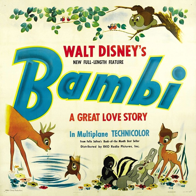 Gorgeous original release poster art from Bambi.