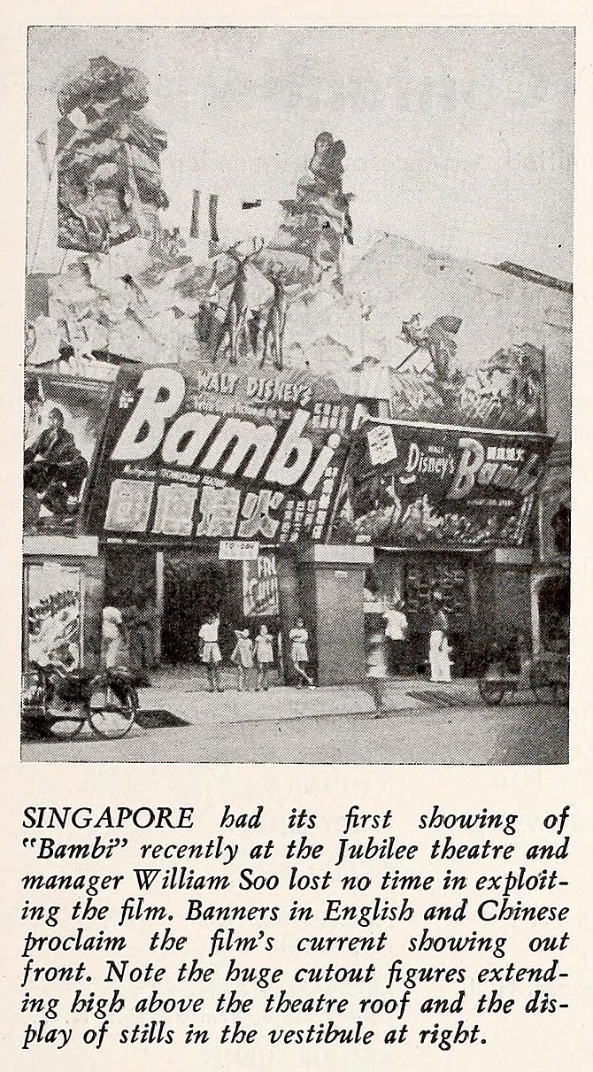 Bambi does Singapore. Motion Picture Herald, August 10, 1946.