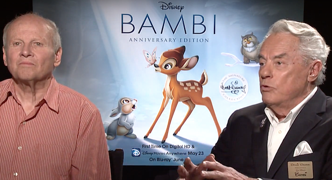 Peter Behn and Donnie Dunagan, Thumper and Bambi respectively.