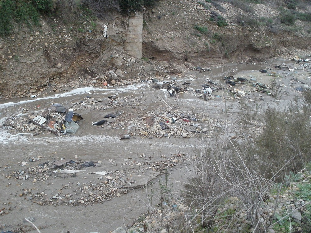 Smuggler's Gulch. Romo has tracked Goat and Smuggler's canyons south into Tijuana and found waste from hospitals, industries, home construction, tires.