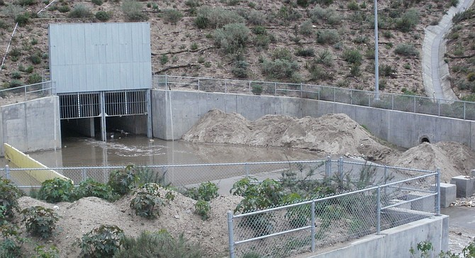 Smuggler's and Goat Canyon's culverts have steel grates which must be raised so they don't jam up.