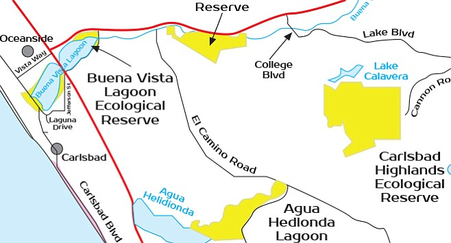 """Carlsbad Highlands Ecological Reserve. """"They just put up a bunch of Trail Closed signs."""""""