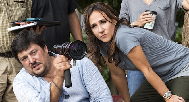 Director of Photography Lorenzo Senatore and Director Gabriela Cowperthwaite on the set of Megan Leavey