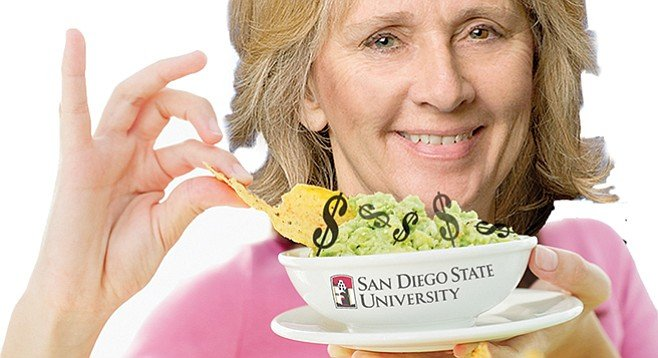 Acting SDSU president Sally Roush has indicated she will be able to make ends meet without a $60,000 housing allowance.