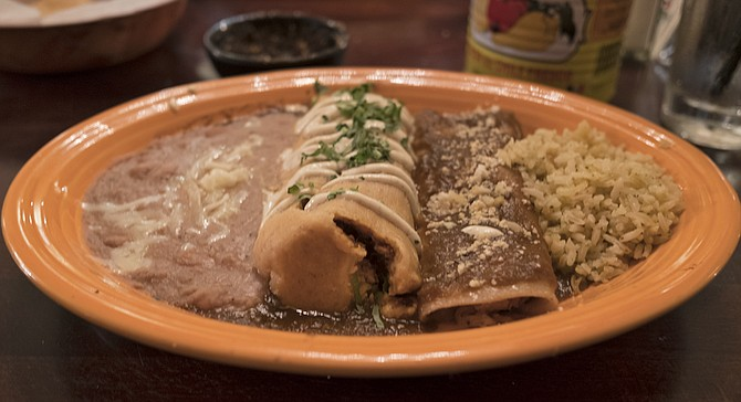 The tamal has taken a step back. The enchilada is greatly improved.