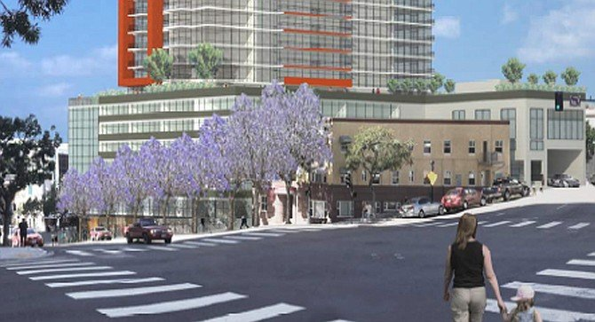 6th & A, a 43-story, 401-foot-tall residential tower composed of 389 units