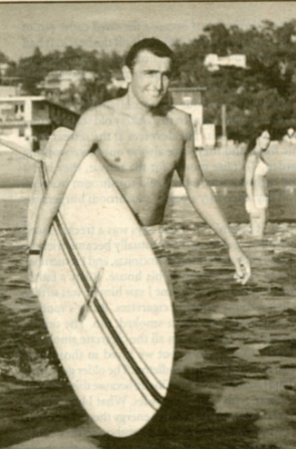 Doyle, 1966. I would get up early in the morning, do an hour of yoga, then go surfing at Swami's.