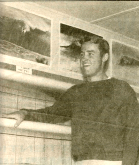 Don Hansen, 1963. Hansen, who'd been surfing in California for a few years before he'd joined the Army, was originally from Redfield, South Dakota, where his father had owned a car dealership.