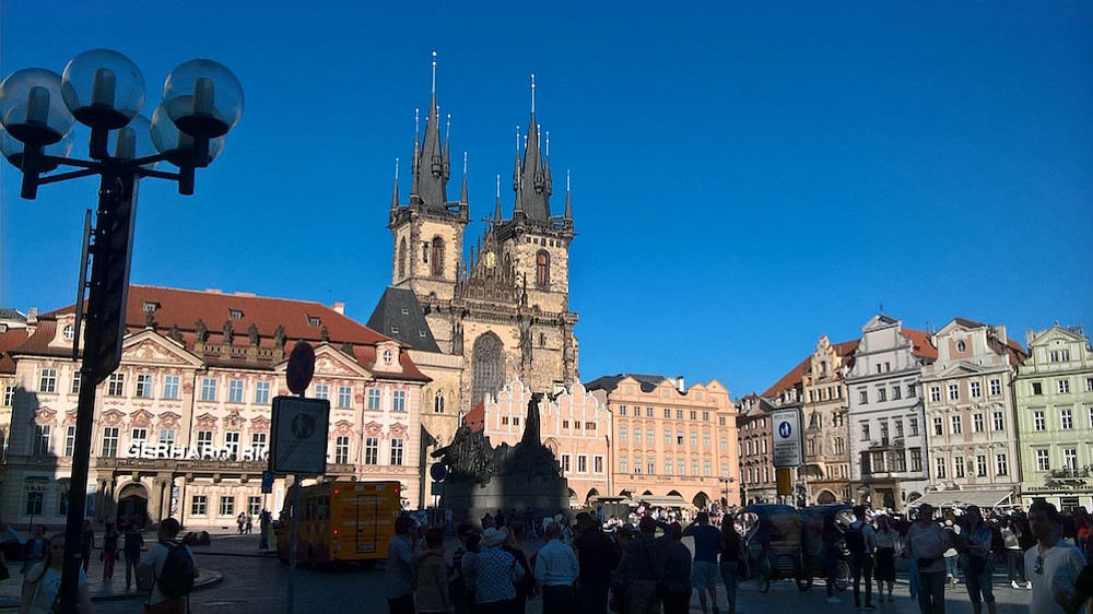 In Prague, head a block south of Old Town Square (pictured) to find Burrito Loco.