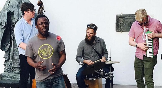 Vocalist Leonard Patton and his group didn't break the Guinness record  — they'll try again.