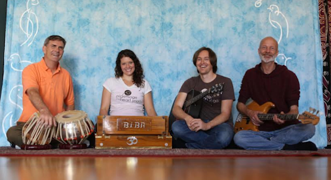 Pilgrimage of the Heart Kirtan Band chants in Sanskrit but also performs modernized mantras in English.