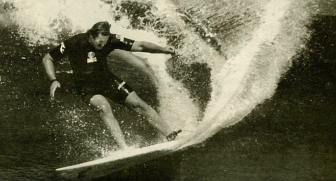Rusty in Australia, 1984. By 1984, 10 of the top 16 surfers in the world were riding his surfboards.