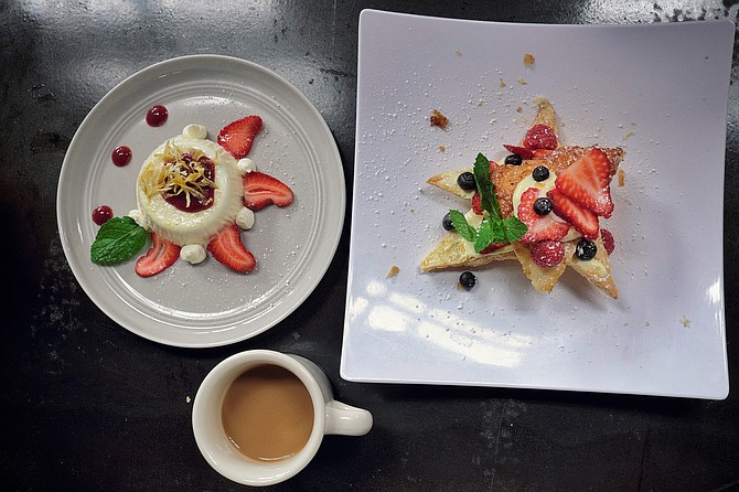 The house made desserts are as decadent as they look.