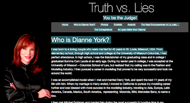 "Dianne York-Goldman website.  ""Eleven years later I realized I was robbed blindly."""