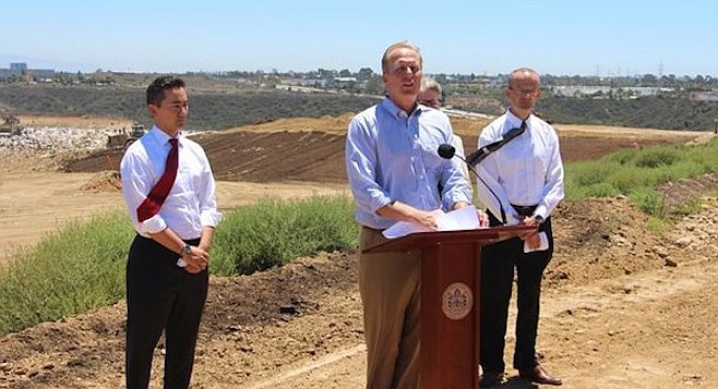 "In 2015, Faulconer announced the landfill  would stay open until 2030. Switching to ""pancake lift"" compaction  was touted as the key."