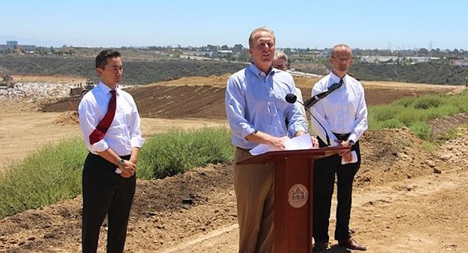 """In 2015, Faulconer announced the landfill  would stay open until 2030. Switching to """"pancake lift"""" compaction  was touted as the key."""